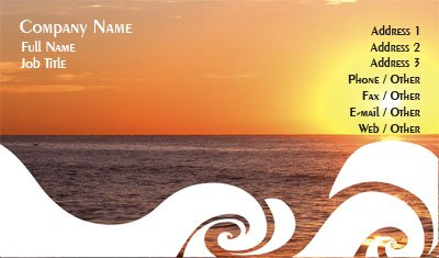Sunset and Waves Business Card Template